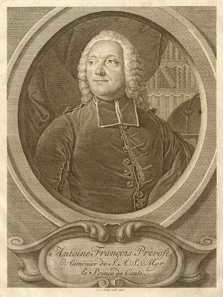 Associate Product Antoine Francois, Abbé Prevost, Chaplain of Msgr Prince de Conti. SCHLEY 1747