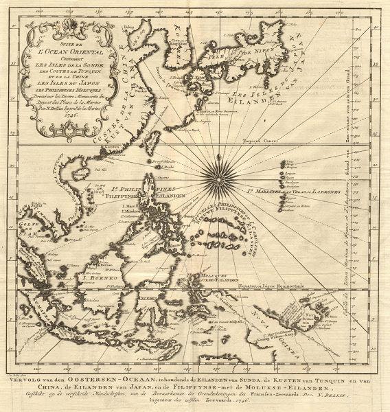 Associate Product 'Suite de l'Ocean Oriental…' East Asia Western Pacific BELLIN/SCHLEY 1747 map