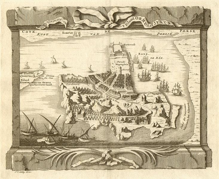 Associate Product 'Isle d'Ormus ou de Jerun'. Iran. Hormuz Island. BELLIN / SCHLEY 1747 old map
