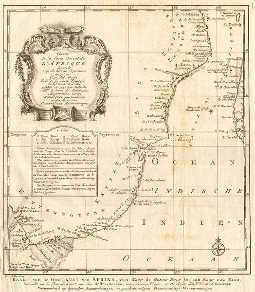 Associate Product 'Coste Orientale d'Afrique'. South Africa Mozambique BELLIN/SCHLEY 1747 map