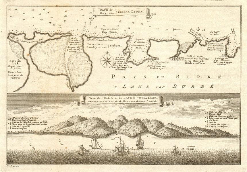 Associate Product 'Baye de Sierra Leona'. Freetown north shore Sierra Leone BELLIN/SCHLEY 1747 map