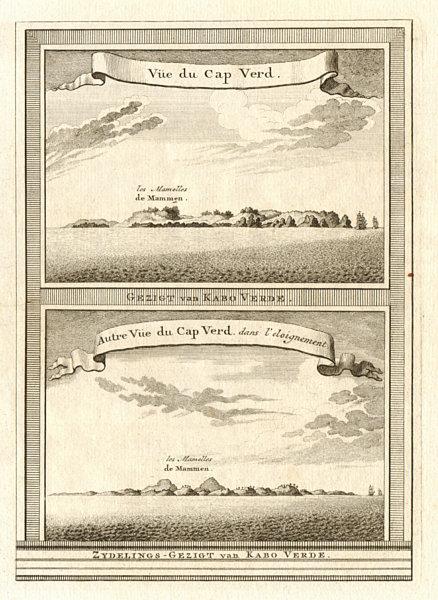 Associate Product Two views of Cap-Vert from the sea. Deux Mamelles, Dakar, Senegal. SCHLEY 1747