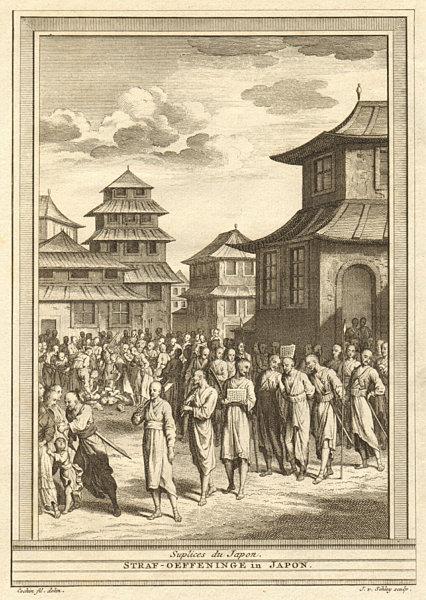 Associate Product 'Suplices du Japon'. Japanese punishments. SCHLEY 1747 old antique print