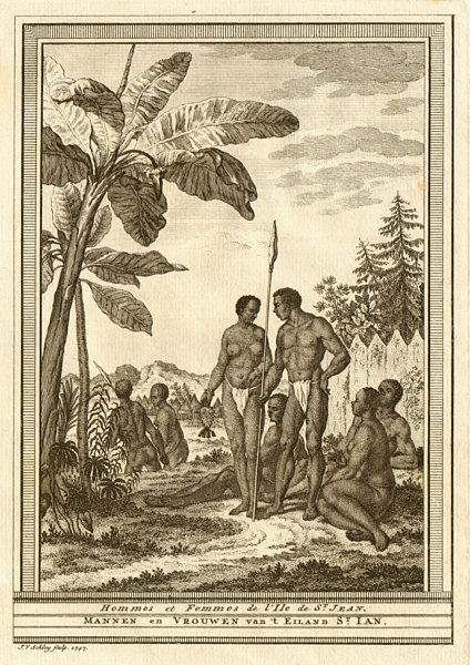 Associate Product 'Hommes & Femmes de l'lsle de St. Jean'. Brava, Cape Verde islands. SCHLEY 1747
