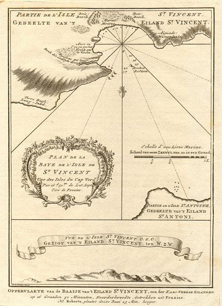 Associate Product Porto Grande Bay Sao Vicente, Cape Verde islands. Mindelo BELLIN/SCHLEY 1747 map
