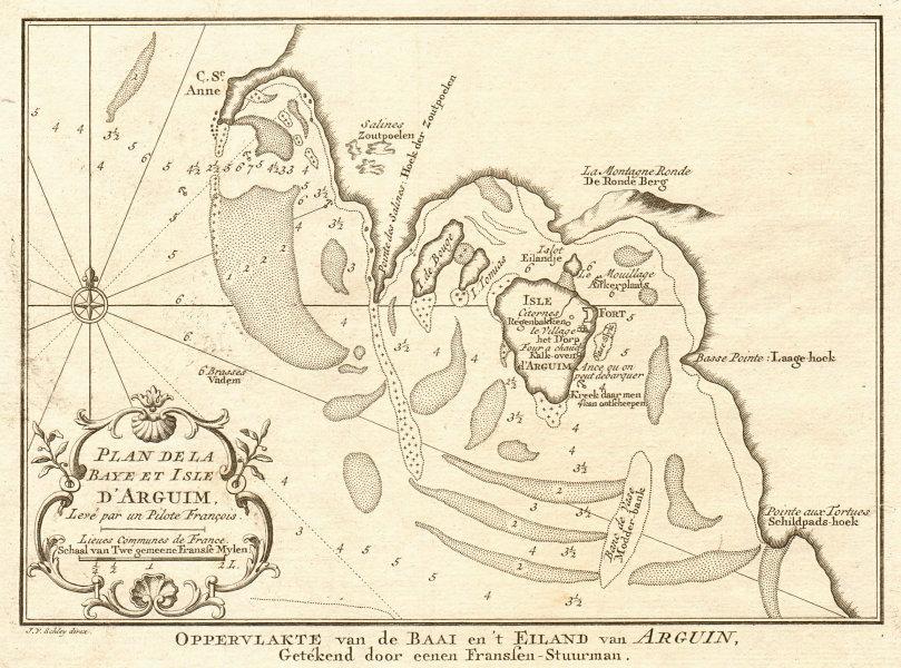Associate Product 'Plan de la Baye & Isle d'Arguim'. Mauritania. Arguin. BELLIN/SCHLEY 1747 map