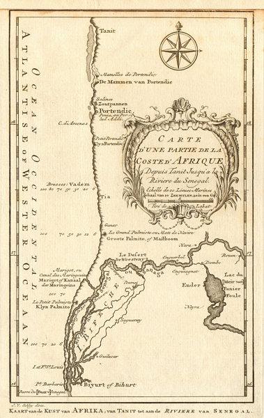 Associate Product 'Partie de la Coste d'Afrique'. Southern Mauritania BELLIN/SCHLEY 1747 old map