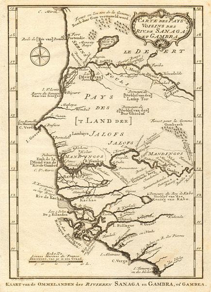 Associate Product 'Rivières de Sanaga & Gambra'. Senegal Gambia rivers. BELLIN/SCHLEY 1747 map