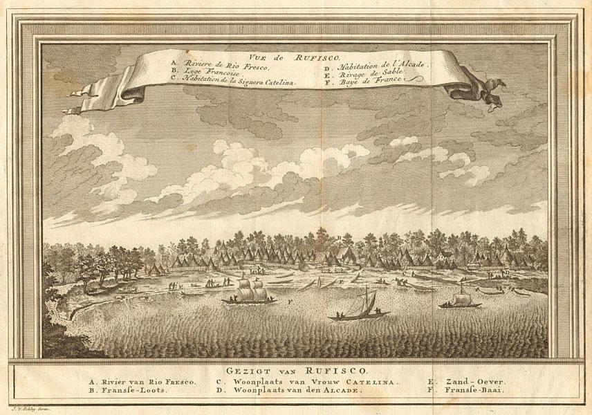 Associate Product 'Vue de Rufisco'. View of Rufisque, Dakar, Senegal. SCHLEY 1747 old print