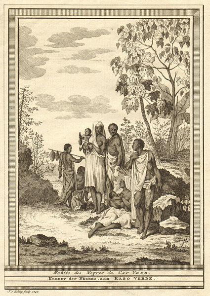 'Habits des Négres du Cap-Verd'. Cap-Vert, Dakar, Senegal. Dress. SCHLEY 1747