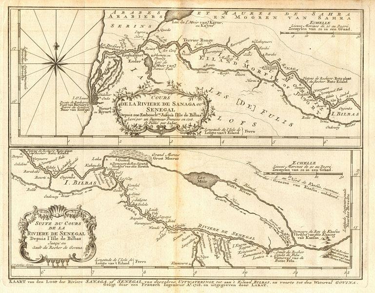 Associate Product 'Cours de la Rivière de Sanaga ou Sénégal'. Senegal River BELLIN/SCHLEY 1747 map