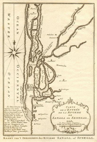 Associate Product 'Carte de I'Entrée de la Rivière de Sanaga ou Senegal'. BELLIN/SCHLEY 1747 map