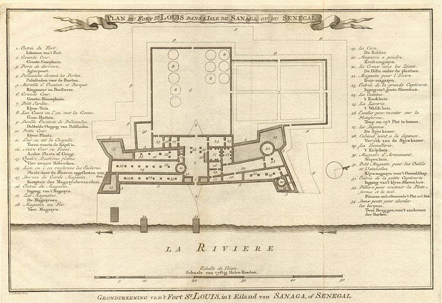 Associate Product 'Fort S. Louis dans I'Isle de Sanaga ou… Sénégal' Senegal BELLIN/SCHLEY 1747 map