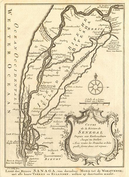 Associate Product 'Cours de la Rivière du Sénégal' Senegal River 1st sheet. BELLIN/SCHLEY 1747 map