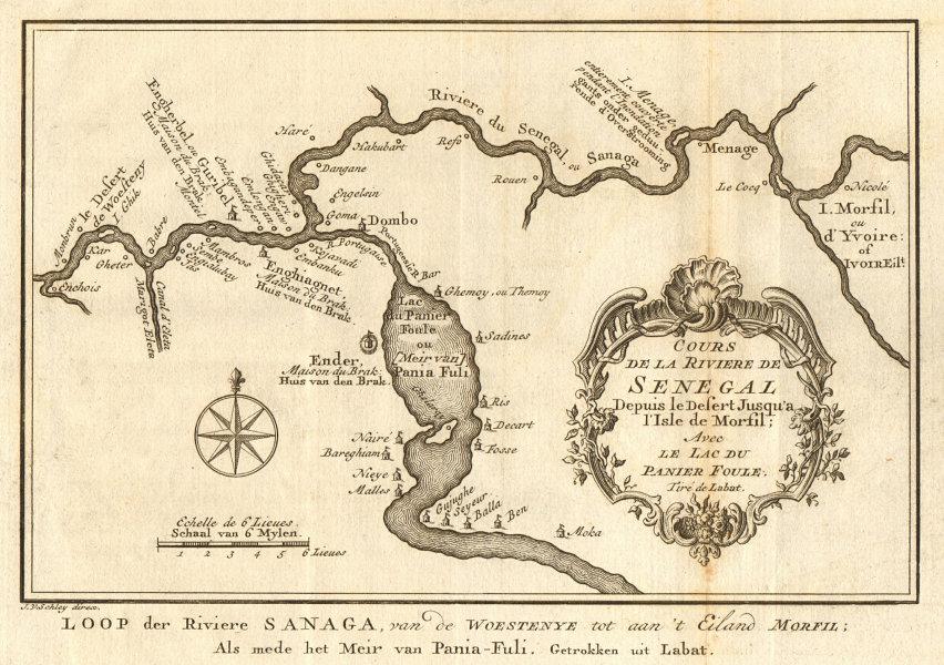 Associate Product 'Cours de la Rivière de Sénégal' Senegal River Lac Guiers BELLIN/SCHLEY 1747 map