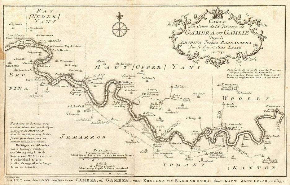 Associate Product Rivière de Gambra ou Gambie, depuis Eropina… Gambia river BELLIN/SCHLEY 1747 map