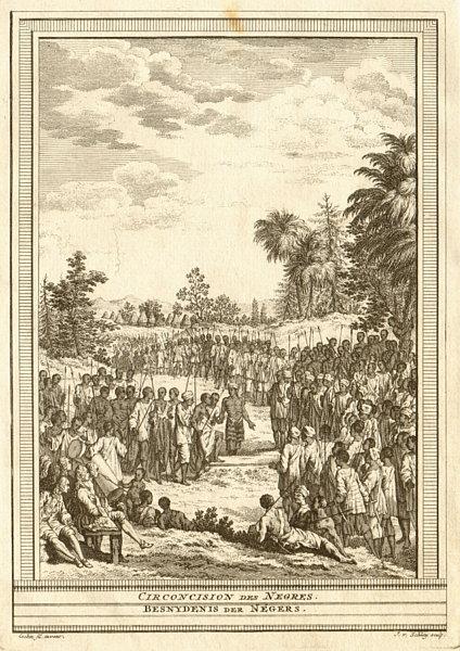 Associate Product 'Circoncision des Négres'. Negro circumcision near St Louis Senegal. SCHLEY 1747