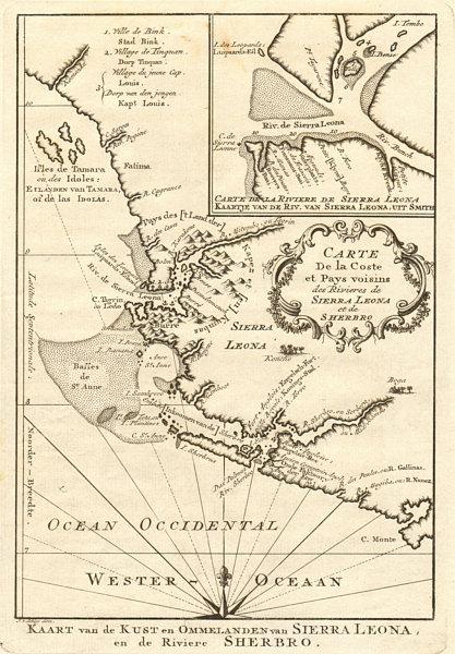 Associate Product 'Coste… des Rivières de Sierra-Léona & Scherbro'. S Leone BELLIN/SCHLEY 1747 map
