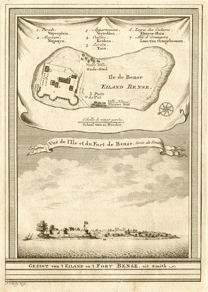 Associate Product 'Vue de I'Isle & du Fort de Bense'. Bunce, Sierra Leone. BELLIN/SCHLEY 1747 map