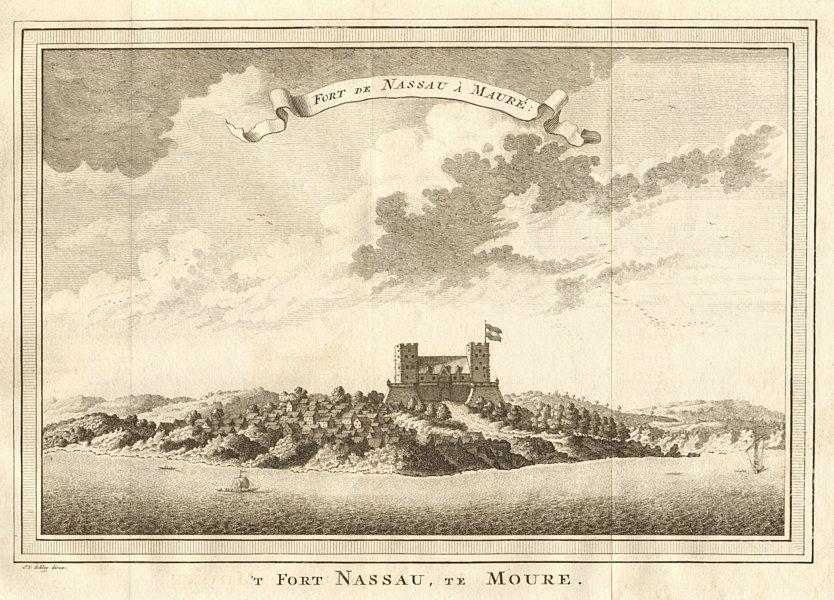 Associate Product 'Fort de Nassau à Maure'. Fort Nassau, at Moree, Ghana. SCHLEY 1747 old print