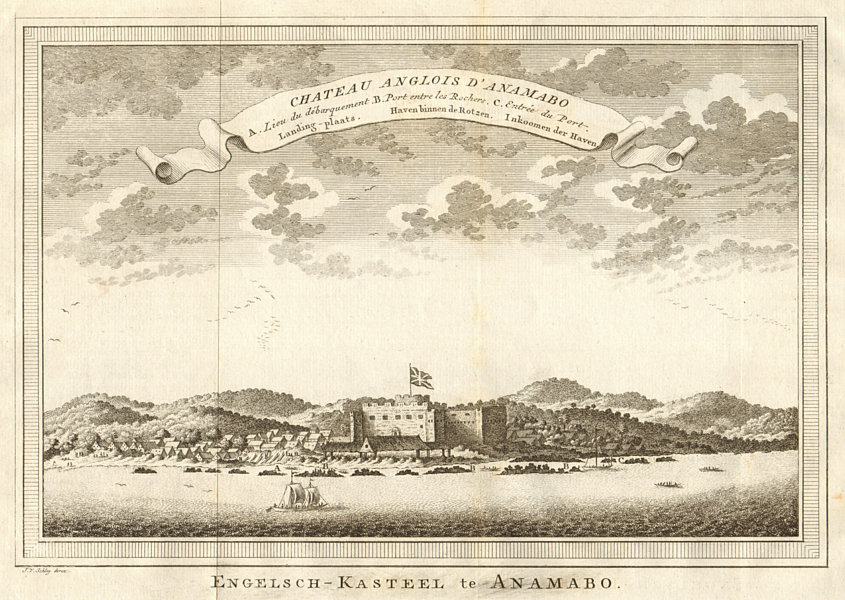 Associate Product Chateau Anglois d'Anamabo. Fort Charles (now William) Anomabu Ghana. SCHLEY 1747