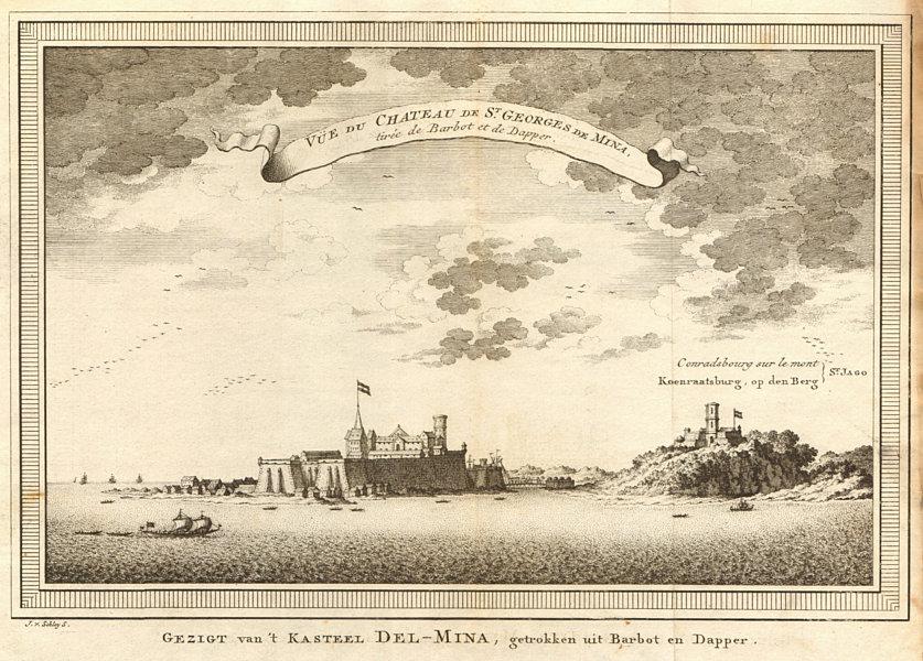 Associate Product Ghana. Elmina Castle. São Jorge da Mina. St. George of the Mine. SCHLEY 1747