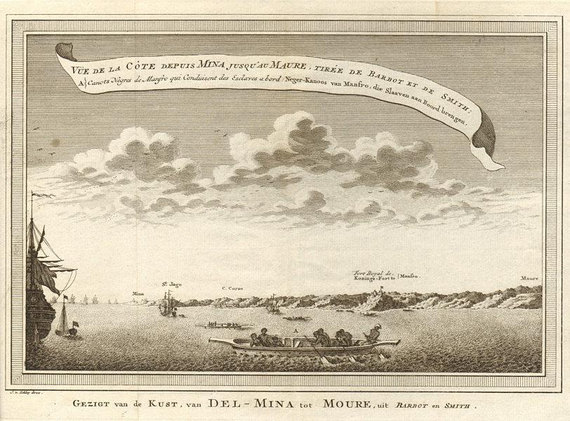 Associate Product 'La Côte depuis Mina… à Maure'. Ghana coast Elmina Cape Coast Moree. SCHLEY 1747