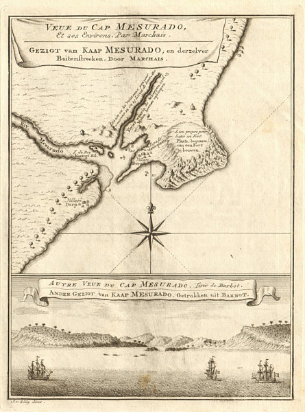 Associate Product 'Veue du Cap Mesurado…' Cape Mesurado, Monrovia, Liberia. BELLIN/SCHLEY 1748 map