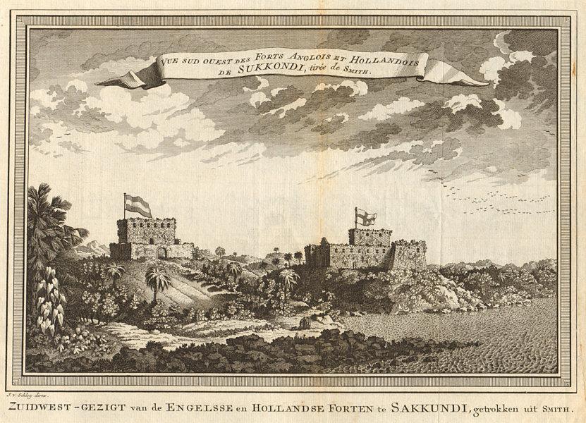 Associate Product View of English Fort Sekondi & Dutch Fort Orange, Takoradi, Ghana. SCHLEY 1748