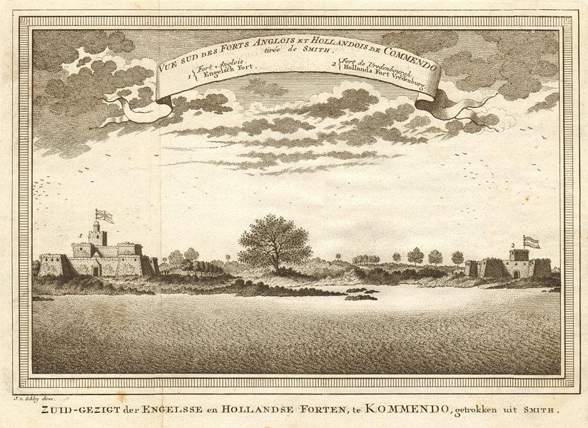 Associate Product English Fort Komenda & Dutch Fort Vredenburg, Ghana. Commendo. SCHLEY 1748