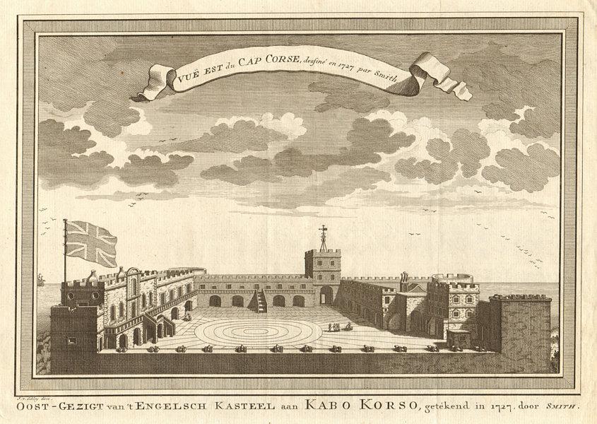 Associate Product 'Vue Est du Cap Corse'. Ghana. Cape Coast Castle in 1727. Smith. SCHLEY 1748