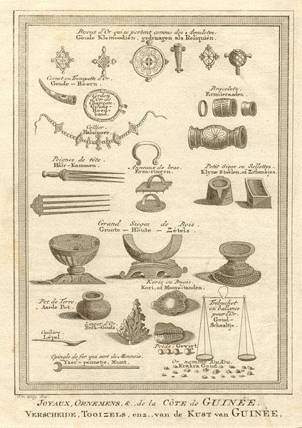 Associate Product 'Joyaux, ornemens de la côte de Guinée' West Africa jewels ornaments SCHLEY 1748