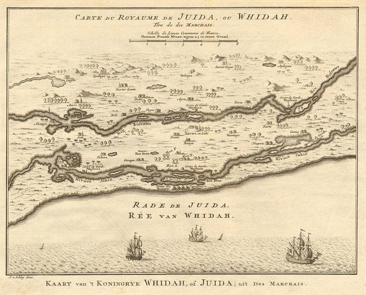 Associate Product 'Carte du Royaume de Juida ou Whidah'. Ouidah, Benin. BELLIN/SCHLEY 1748 map