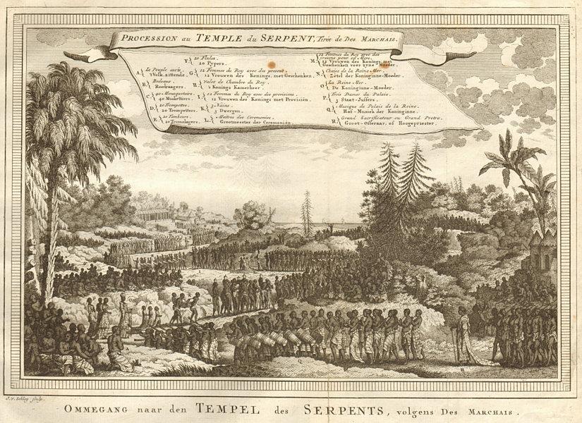 Associate Product 'Procession au Temple du Serpent'. Whydah. Des Marchais. Ouidah. SCHLEY 1748