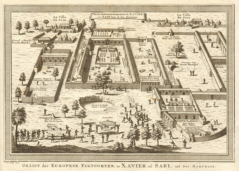 Associate Product 'Comptoirs Européens de Xavier ou Sabi'. Ouidah Benin. BELLIN/SCHLEY 1748 map
