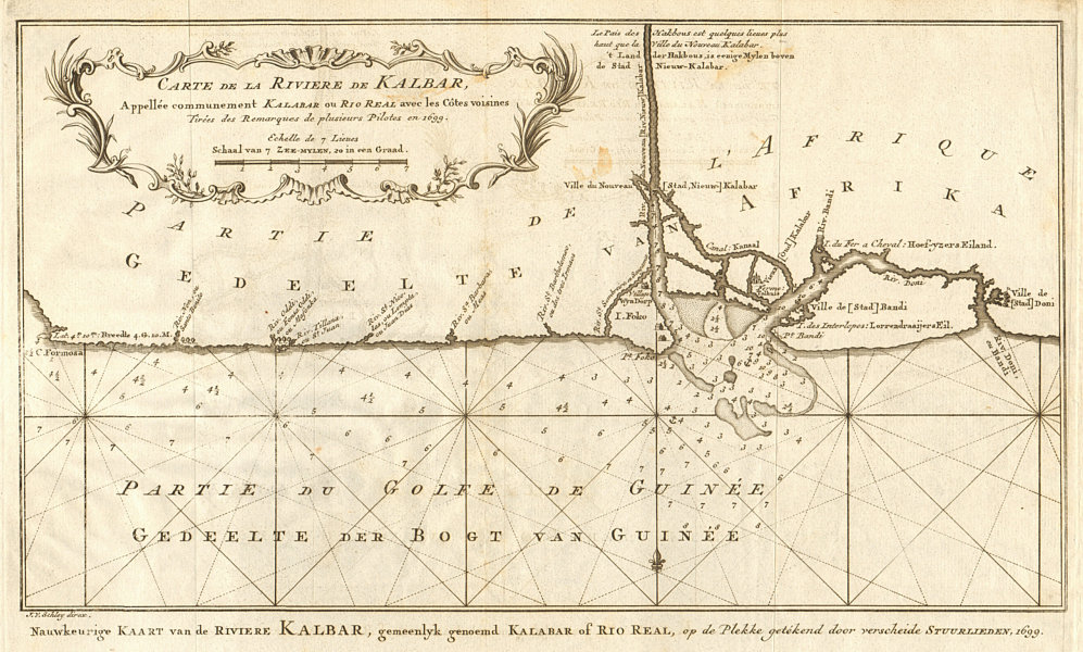 Associate Product 'Carte de la Rivière de Kalbar…'. Calabar River, Nigeria. BELLIN/SCHLEY 1748 map