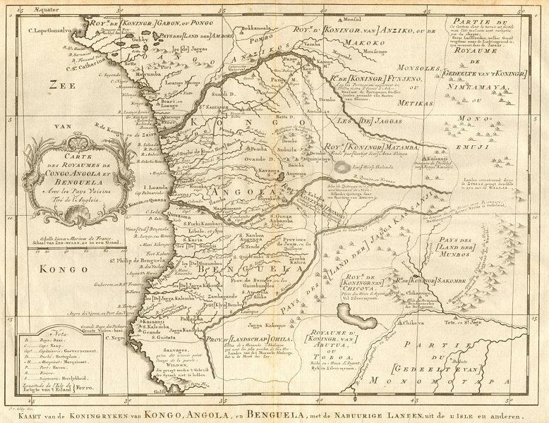 Associate Product 'Carte des Royaumes de Congo, Angola et Benguela'. Gabon. BELLIN/SCHLEY 1748 map