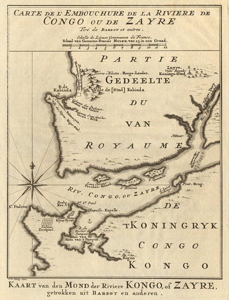 Associate Product Carte de L'Embouchure de la Rivière de Congo ou de Zayre. BELLIN/SCHLEY 1748 map