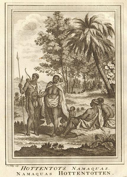 Associate Product 'Hottentots Namaquas'. Khoikhoi of Namaqualand. Namibia/South Africa SCHLEY 1748