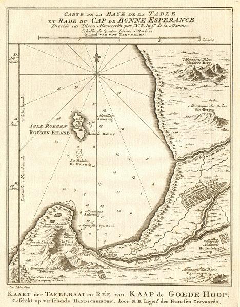 'Baye de la Table &… Cap de Bonne-Espérance'. Cape Town. BELLIN/SCHLEY 1748 map