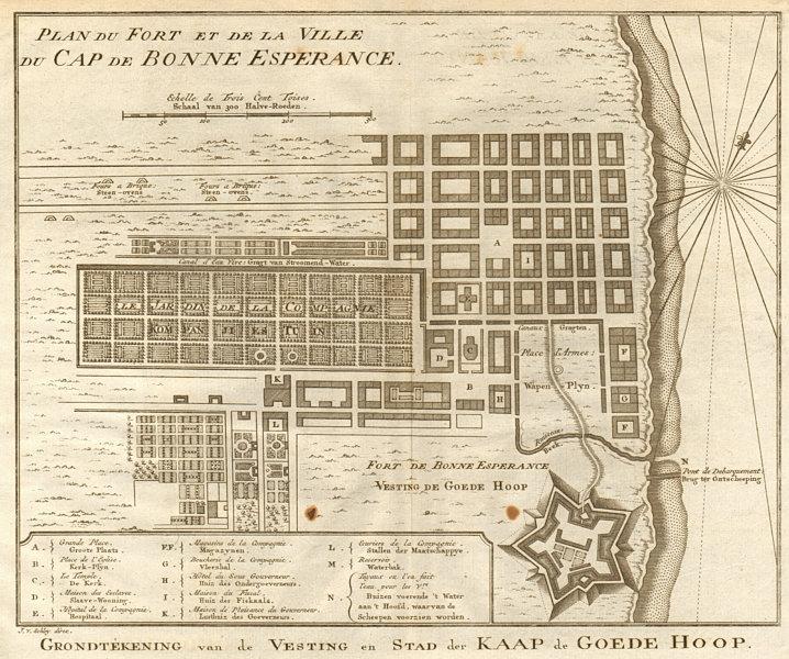 Associate Product Fort &… ville du Cap de Bonne Espérance. Cape Town. BELLIN/SCHLEY 1748 old map