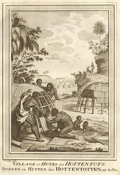 Associate Product 'Village & Hutes des Hottentots'. Southern Africa. Khoikhoi village. SCHLEY 1748