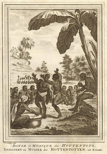 Associate Product Danse & Musique des Hottentots. Southern Africa Khoikhoi music dance SCHLEY 1748