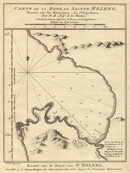 Associate Product 'La Baye de Sainte Hélène'. St Helena Bay, South Africa. BELLIN/SCHLEY 1748 map