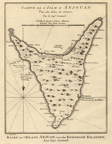 Associate Product 'L'lsle d'Anjouan, une des lsles de Comorre'. Comoros. BELLIN/SCHLEY 1748 map