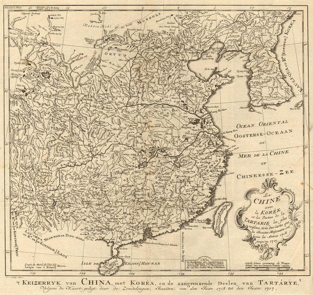 'La Chine avec la Corée et… la Tartarie'. China & Korea. BELLIN/SCHLEY 1749 map