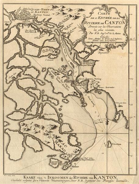 Associate Product 'L'entrée de la Rivière de Canton'. Pearl River, China. BELLIN/SCHLEY 1749 map