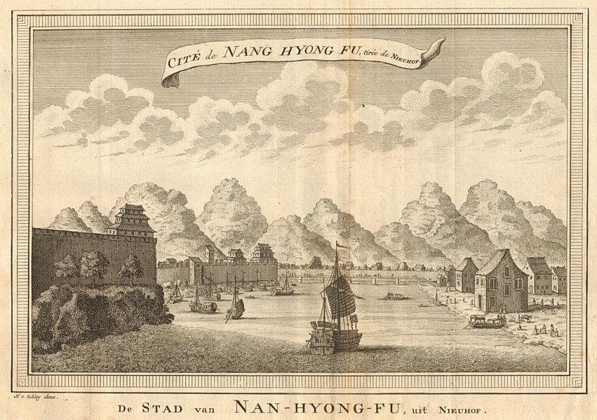 Associate Product 'Cité de Nang Hyong Fu'. City of Nanxiong, China, from Nieuhof. SCHLEY 1749