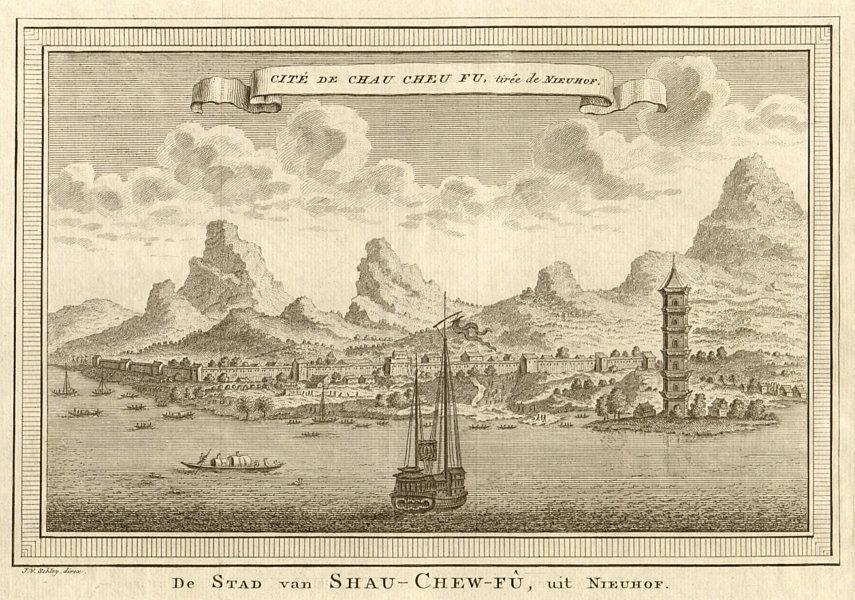 Associate Product 'Cité de Chau cheu fu'. China. City of Chaozhou. Guangzhou. SCHLEY 1749 print