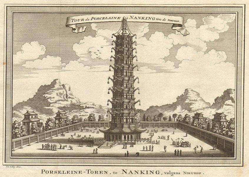 Associate Product 'Tour de Porcelaine à Nanking'. Nanjing tower. Great Bao'en Temple. SCHLEY 1749